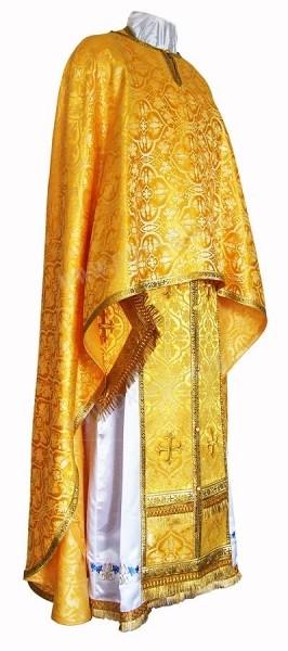 Греческое иерейское облачение из шёлка Ш2 (жёлтый/золото)