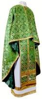 Греческое иерейское облачение из шёлка Ш2 (зелёный/золото)