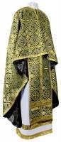 Греческое иерейское облачение из шёлка Ш3 (чёрный/золото)