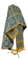 Греческое иерейское облачение из шёлка Ш4 (синий/золото)