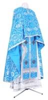 Греческое иерейское облачение из шёлка Ш4 (синий/серебро)
