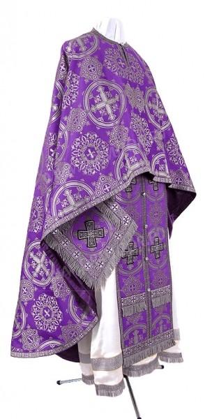 Греческое иерейское облачение из шёлка Ш4 (фиолетовый/серебро)
