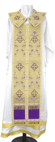 Требный комплект из парчи ПГ2 (фиолетовый/золото)