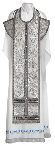 Требный комплект из парчи ПГ3 (чёрный/серебро)