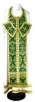 Требный комплект из парчи ПГ5 (зелёный/золото)