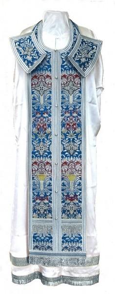 Требный комплект из парчи ПГ6 (синий/серебро)