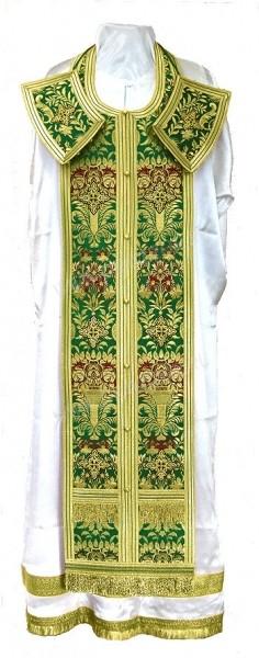 Требный комплект из парчи ПГ6 (зелёный/золото)