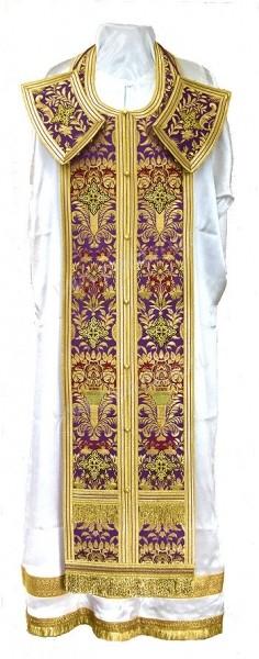 Требный комплект из парчи ПГ6 (фиолетовый/золото)