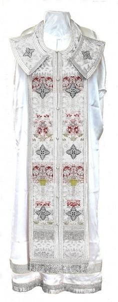 Требный комплект из парчи ПГ6 (белый/серебро)