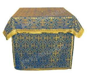 Облачение на престол из парчи ПГ6 (синий/золото)