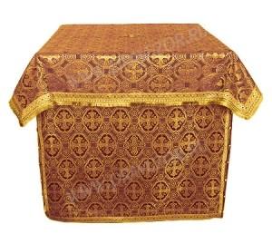 Облачение на престол из шёлка Ш2 (бордовый/золото)