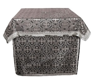 Облачение на престол из шёлка Ш3 (чёрный/серебро)