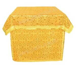 Облачение на жертвенник из парчи ПГ3 (жёлтый/золото)