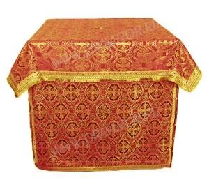 Облачение на жертвенник из парчи ПГ3 (красный/золото)