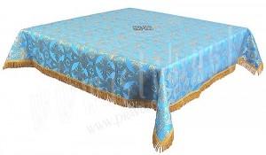 Пелена на престол/жертвенник из парчи П (синий/золото)