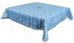 Пелена на престол/жертвенник из парчи П (синий/серебро)
