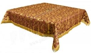 Пелена на престол/жертвенник из парчи П (бордовый/золото)