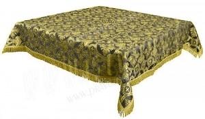 Пелена на престол/жертвенник из парчи П (чёрный/золото)