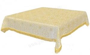 Пелена на престол/жертвенник из парчи П (белый/золото)