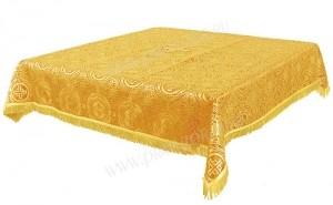 Пелена на престол/жертвенник из парчи ПГ2 (жёлтый/золото)