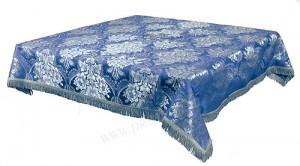 Пелена на престол/жертвенник из парчи ПГ3 (синий/серебро)