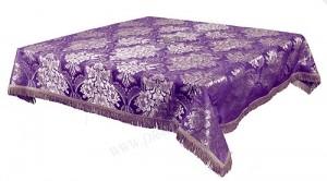 Пелена на престол/жертвенник из парчи ПГ3 (фиолетовый/серебро)