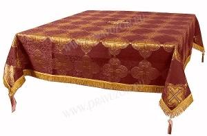 Пелена на престол/жертвенник из парчи ПГ4 (бордовый/золото)