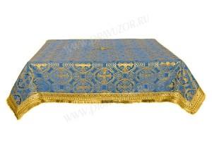 Пелена на престол/жертвенник из шёлка Ш2 (синий/золото)