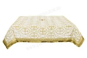 Пелена на престол/жертвенник из шёлка Ш2 (белый/золото)