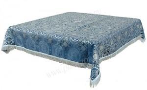 Пелена на престол/жертвенник из шёлка Ш3 (синий/серебро)