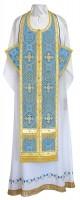 Требный комплект из шёлка Ш3 (синий/золото)