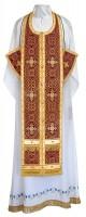 Требный комплект из шёлка Ш4 (бордовый/золото)