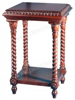 """Литийный столик """"Греческий"""" (с полочкой)"""