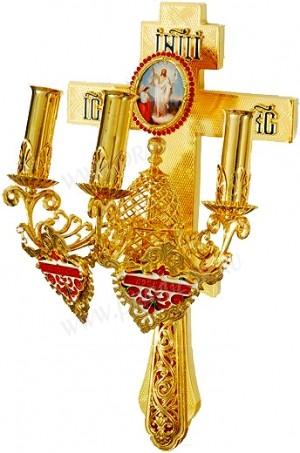 Трёхсвечник пасхальный православный №4