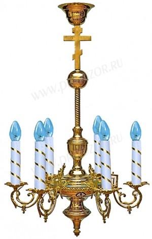 Одноярусное церковное паникадило - 5 (6 свечей)