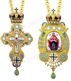 Набор для архиерея (крест и панагия) №136