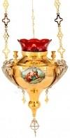 Церковная лампада №2 (с иконой)