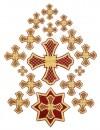 Кресты ручной вышивки - P33
