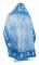 """Русское вышитое архиерейское облачение - """"Хризантемы"""" (синее-серебро) (вид сзади), обиходная отделка"""