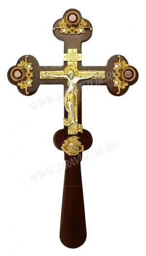 Крест требный на дереве - А604