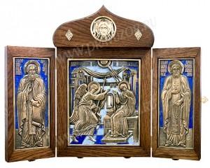 Икона на металле: Благовещение Пресв. Богородицы (складень)