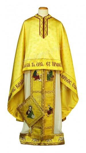 """Греческое облачение священника - """"Спас на троне"""" - (золотое)"""