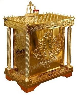 Столик панихидный (канун) №527 (100 свечей)