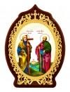 Икона настольная - святые Первоверховные Апостолы Петр и Павел.
