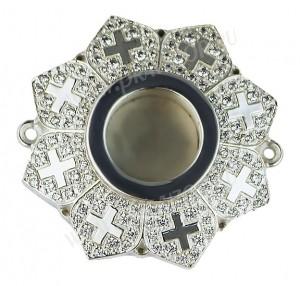 Мощевик накладной латунный в сребрении