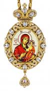 Панагия с иконой Казанской Божьей Матери - A167