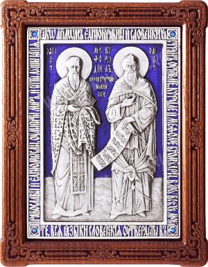 Икона препп. равноап. Кирилла и Мефодия - A104-3