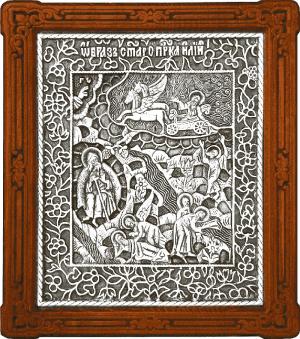 Икона Огненное восхождение св. пророка Илии - A108-1