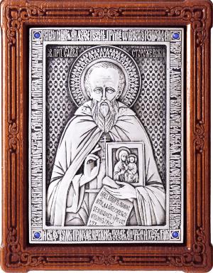Икона преп. Саввы Сторожевского - A111-2