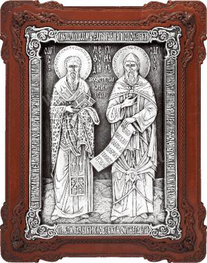 Икона препп. равноап. Кирилла и Мефодия - A141-1